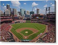 Busch Stadium T. Louis Cardinals Ball Park Village National Anthem #3a Acrylic Print by David Haskett