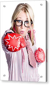 Businesswoman Training Acrylic Print by Jorgo Photography - Wall Art Gallery