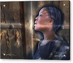 But Now I See Acrylic Print by Bob Salo