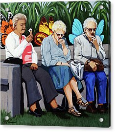 Butterflies Like Ice Cream Too Acrylic Print by Linda Apple