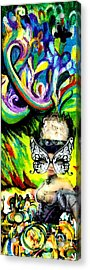 Butterfly Masquerade Acrylic Print by Genevieve Esson