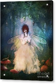 Butterfly Painter Acrylic Print by Shanina Conway