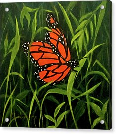 Butterfly Acrylic Print by Roseann Gilmore