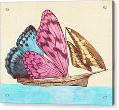Butterfly Ship Acrylic Print by Eric Fan