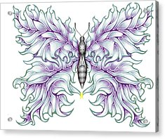 Butterfly Tattoo 2 Acrylic Print by Karen Musick