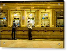 Acrylic Print featuring the photograph Buying A Ticket by M G Whittingham
