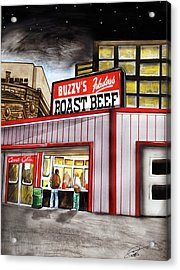 Buzzy's Fabulous Roast Beef Acrylic Print by Dave Olsen