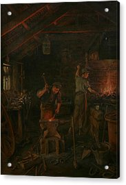 By Hammer And Hand All Arts Doth Stand Acrylic Print by William Banks Fortescue