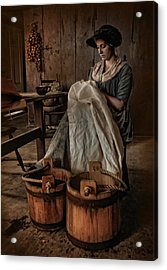 By Hand Acrylic Print by Robin-lee Vieira