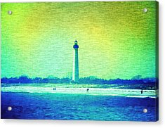 By The Sea - Cape May Lighthouse Acrylic Print by Bill Cannon