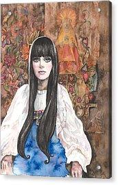 Byzantine Madonna Acrylic Print by Kim Whitton