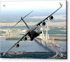 C-17 Charleston Acrylic Print by Aviation Heritage