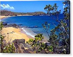 Cabeza Chiquita El Convento Beach Acrylic Print by Thomas R Fletcher