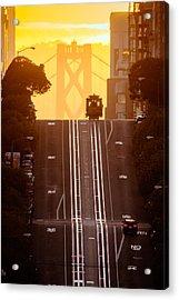 Cable Car Acrylic Print by David Yu