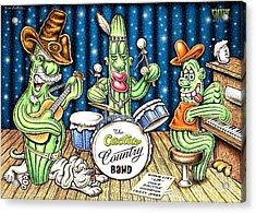 Cactus Jam Acrylic Print by Cristophers Dream Artistry