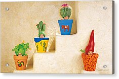 Cactus Pots Acrylic Print by Anne Geddes