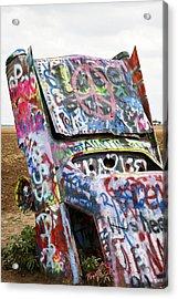 Cadillac Ranch Acrylic Print by Marilyn Hunt