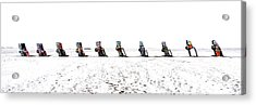 Cadillac Ranch Whiteout 001 Acrylic Print by Lance Vaughn