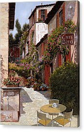 Cafe Bifo Acrylic Print by Guido Borelli