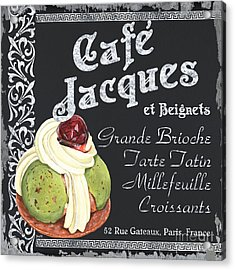 Cafe Jacques Acrylic Print by Debbie DeWitt