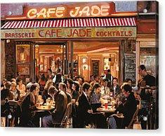 Cafe Jade Acrylic Print by Guido Borelli