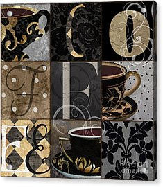Cafe Noir Patchwork Acrylic Print by Mindy Sommers