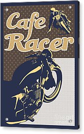 Cafe Racer Acrylic Print by Sassan Filsoof