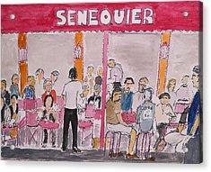 Cafe Senequier St Tropez 2012 Acrylic Print by Bill White
