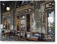 Cafe Terrace On Piazza San Marco Acrylic Print by Sami Sarkis