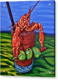 Cajun Cocktail Acrylic Print by JoAnn Wheeler