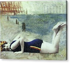 Calendar Girl Acrylic Print by Barb Pearson