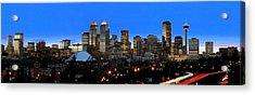 Calgarys Skyline Acrylic Print by Richard Wear