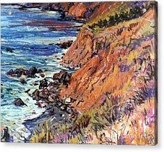 California Coast Acrylic Print by Donald Maier