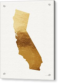 California Gold- Art By Linda Woods Acrylic Print by Linda Woods