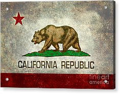 California Republic State Flag Retro Style Acrylic Print by Bruce Stanfield