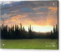 California Sunset Acrylic Print by Albert Bierstadt