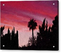 California Sunset Painting 1 Acrylic Print by Teresa Mucha