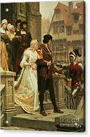 Call To Arms Acrylic Print by Edmund Blair Leighton