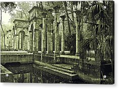 Calle Grande Ruins Acrylic Print by DigiArt Diaries by Vicky B Fuller