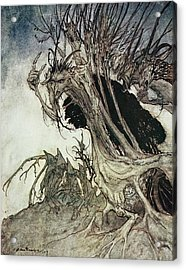 Calling Shapes And Beckoning Shadows Dire Acrylic Print by Arthur Rackham