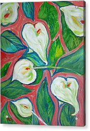 Cally Lily Expression Acrylic Print by Patricia Taylor