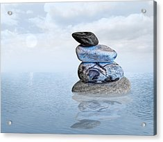 Calm Waters Acrylic Print by Gill Billington
