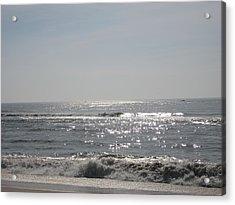 Calming Waves Acrylic Print by Jennifer  Sweet