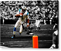 Cam Newton Eye On The Prize Acrylic Print by Brian Reaves