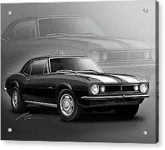 Camaro Z28 1967 Acrylic Print by Etienne Carignan