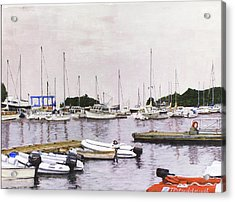 Camden Maine Marina Acrylic Print by Thomas Michael Meddaugh