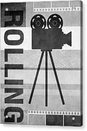 Cameras Rolling- Art By Linda Woods Acrylic Print by Linda Woods