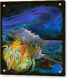 Camogli By Night In Italy Acrylic Print by Miki De Goodaboom