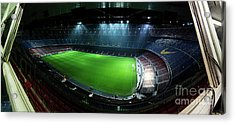 Camp Nou At Night Acrylic Print by Agusti Pardo Rossello