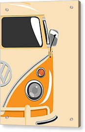 Camper Orange 2 Acrylic Print by Michael Tompsett